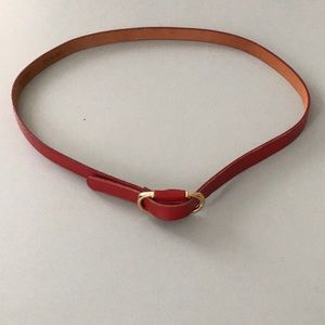 Accessories - Red Cowhide Belt